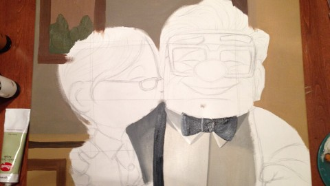 Carl & Ellie Painting